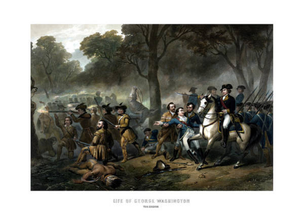 Wall Art - Painting - Life Of George Washington - The Soldier by War Is Hell Store
