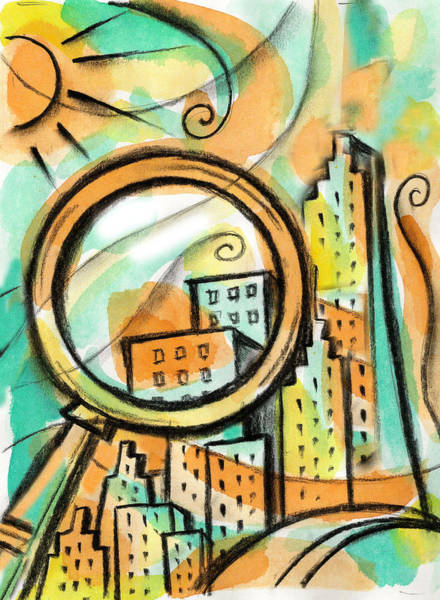 Wall Art - Painting - Life Of The Big City by Leon Zernitsky