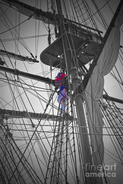 Shipmates Photograph - Life On The Ropes by Jost Houk