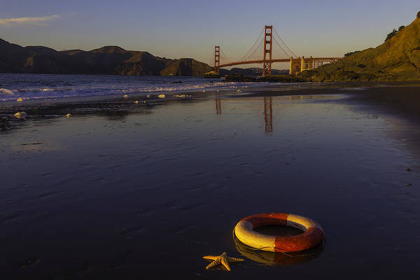 Cultural Center Wall Art - Photograph - Life Ring And Starfish by Garry Gay