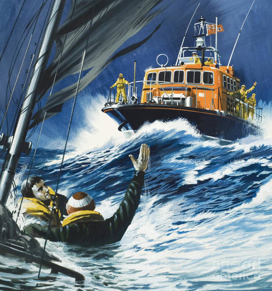 Wall Art - Painting - Life Savers by Wilf Hardy