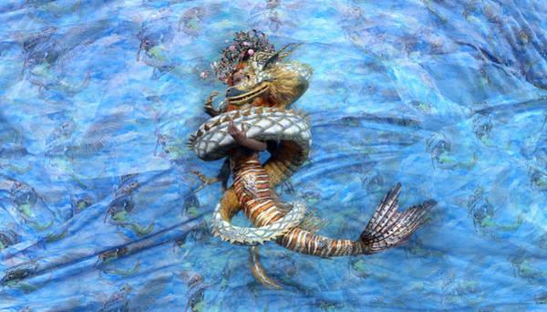 Serpent Digital Art - The Princess And The Dragon by Betsy Knapp