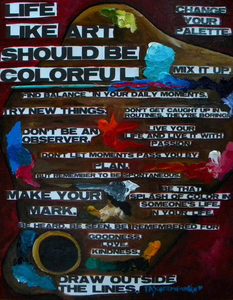 Painting - Life Should Be Colorful by Patti Schermerhorn