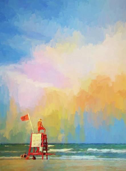Photograph - Lifeguard Alert by Alice Gipson