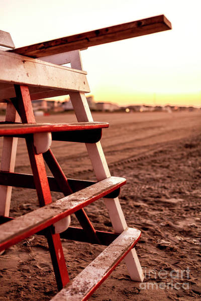 Photograph - Lifeguard Chair At Cape May 2008 by John Rizzuto
