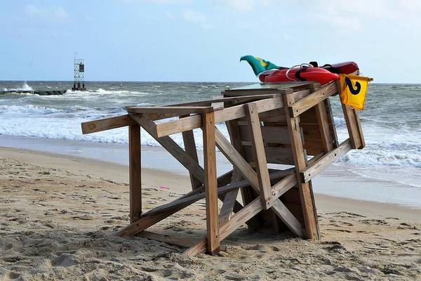Photograph - Lifeguard Chair At The Indian River Inlet by Kim Bemis