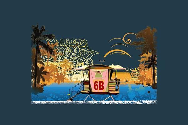 Bahamas Digital Art - Lifeguard Station 6b by Paulette B Wright