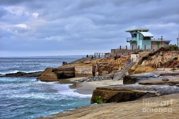 Photograph - Lifeguard Station At Children's Pool by Eddie Yerkish