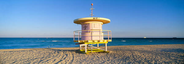 Dade Photograph - Lifeguard Station At South Beach, Miami by Panoramic Images