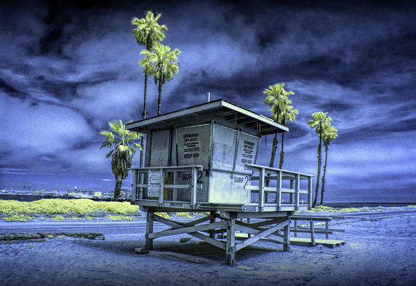 Photograph - Lifeguard Station In Infrared At Cabrillo Beach by Randall Nyhof