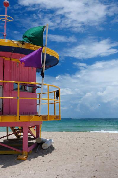 Lifeguard Tower - South Beach - Miami Art Print