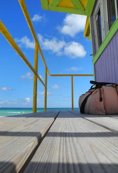Photograph - Lifeguard Tower 2.2 - South Beach - Miami by Frank Mari