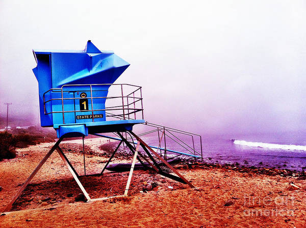 Photograph - Lifeguard Tower At California Beach by Bryan Mullennix