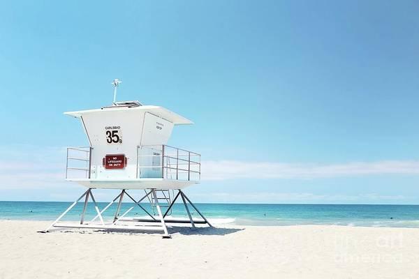 Wall Art - Photograph - lifeguard tower Carlsbad 35 by Sylvia Cook