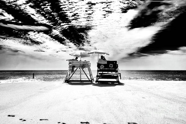 Photograph - Lifeguards In Cape May by John Rizzuto