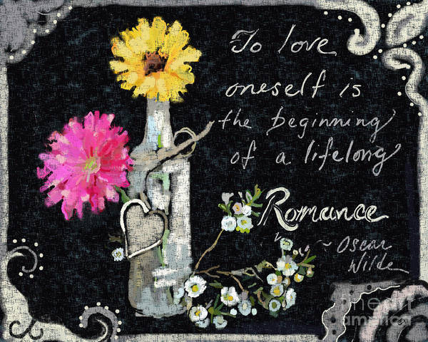 Gerbera Painting - Lifelong Romance by Carrie Joy Byrnes
