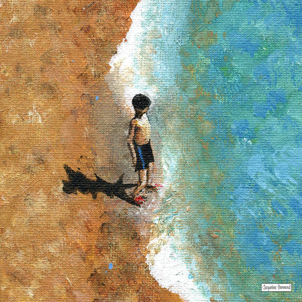 Painting - Life's A Beach - Little Boy by Jacqueline Hammond