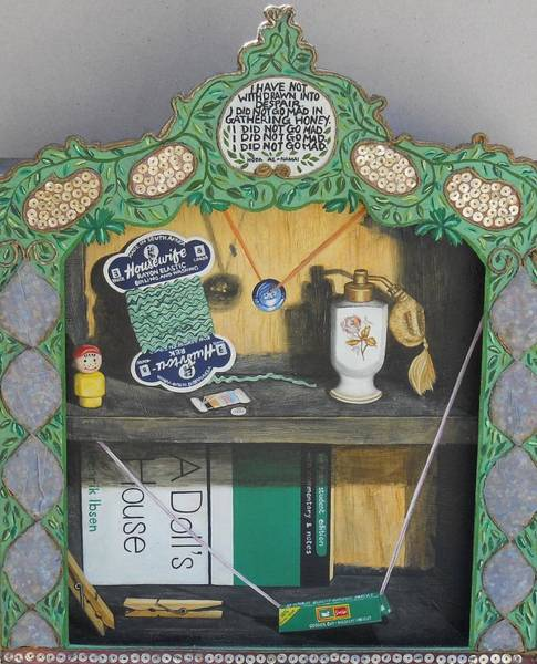 Shelves Mixed Media - Life's House by Caren Bestbier