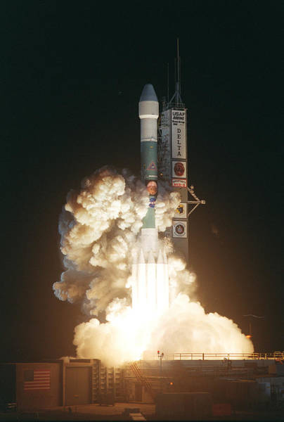 Photograph - Liftoff Of Space Shuttle Mars Explorer Rover by Artistic Panda
