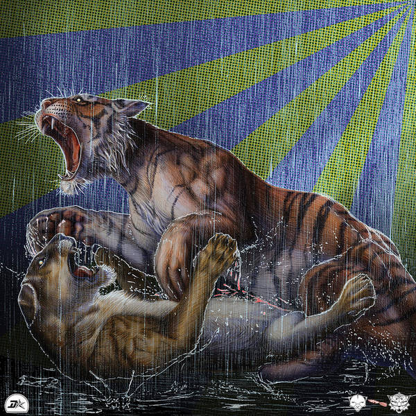 Wall Art - Drawing - Liger  Release by David Starr