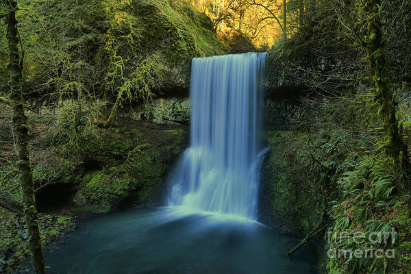 Photograph - Light Above Lower South Falls by Adam Jewell