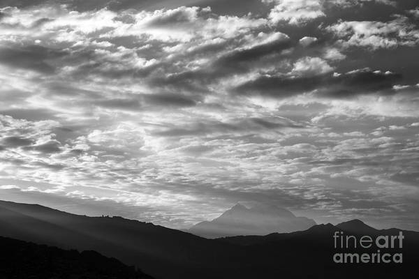 Photograph - Light And Cloud Over Mt Illimani by James Brunker