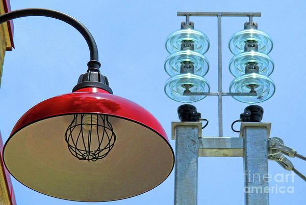 Glass Insulator Photograph - Light And Insulators by Randall Weidner