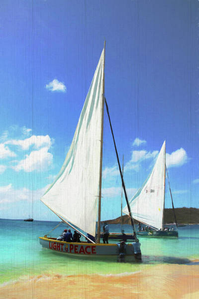 Photograph - Light And Peace Sailboat In Anguilla  by Ola Allen