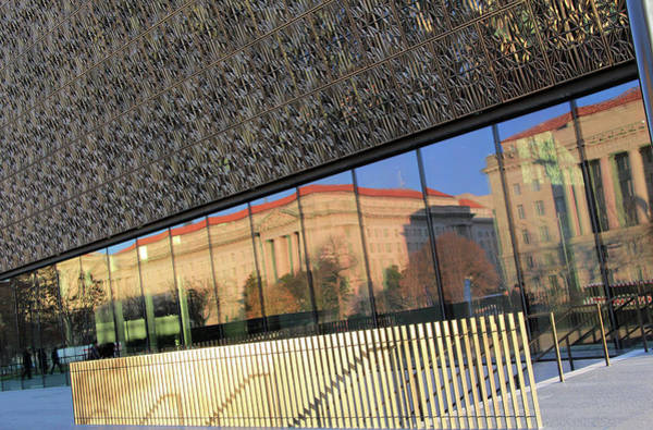 Federal Triangle Wall Art - Photograph - Light And Reflections At The African American History And Culture Museum by Cora Wandel