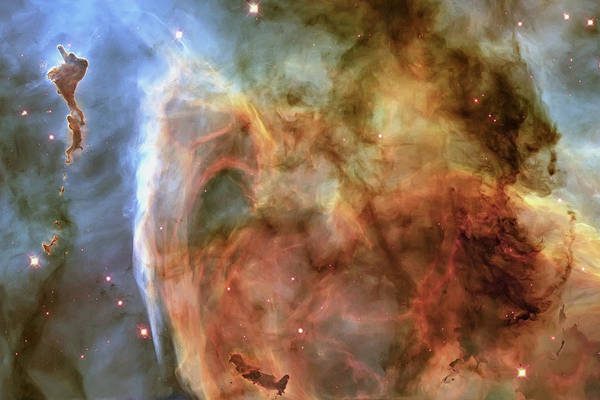 Photograph - Light And Shadow In The Carina Nebula by Adam Romanowicz