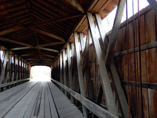 Photograph - Light At The End Of The Covered Bridge by Tina M Wenger