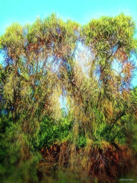 Light Beyond The Woods Art Print by Joel Bruce Wallach