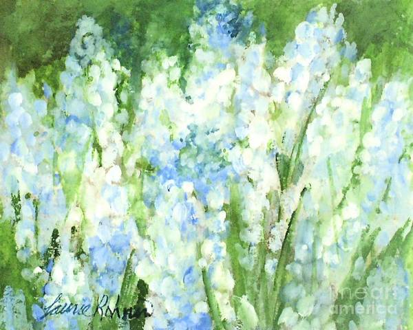 Painting - Light Blue Grape Hyacinth. by Laurie Rohner