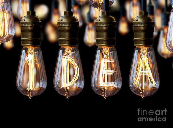 Wall Art - Photograph - Light Bulb Idea by Setsiri Silapasuwanchai