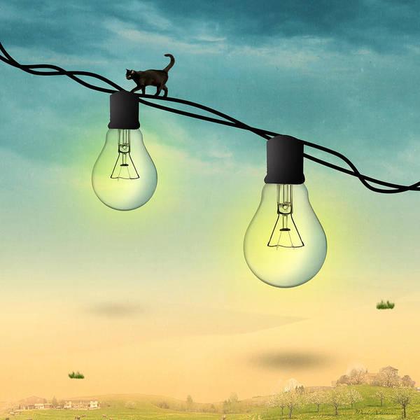 Wall Art - Painting - Light Bulb by Mark Ashkenazi