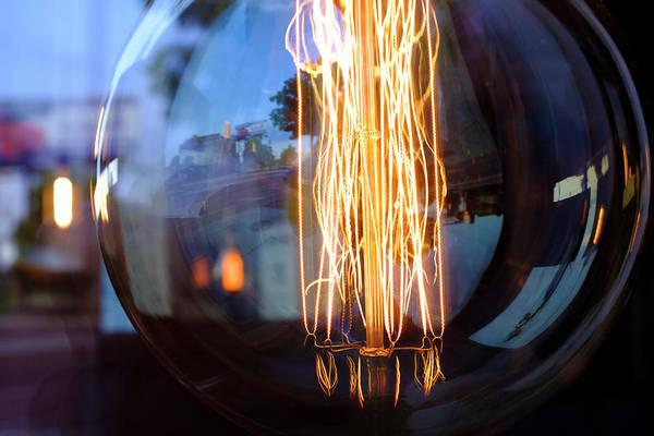 Light Elements Bulb In Detroit Michigan Art Print