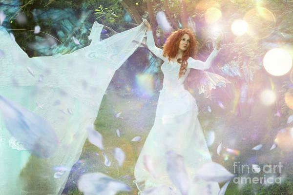 Wall Art - Digital Art - Light Fairy by Angel Ciesniarska