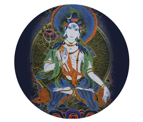 Painting - Light Giving Shiva  by Guruji Aruneshvar Paris Art Curator Katrin Suter