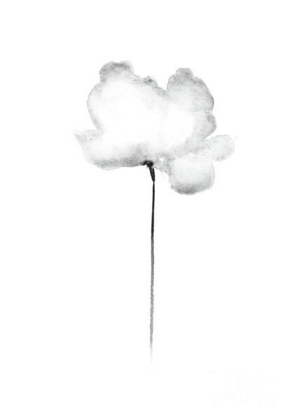 Wall Art - Painting - Light Grey Cloud Poppy, Straight by Joanna Szmerdt