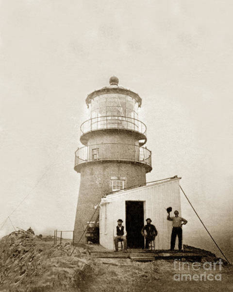 Photograph - Light-house At Farallon Island Pacific Ocean Circa 1875 by California Views Archives Mr Pat Hathaway Archives