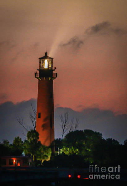Photograph - Light House Beam by Tom Claud