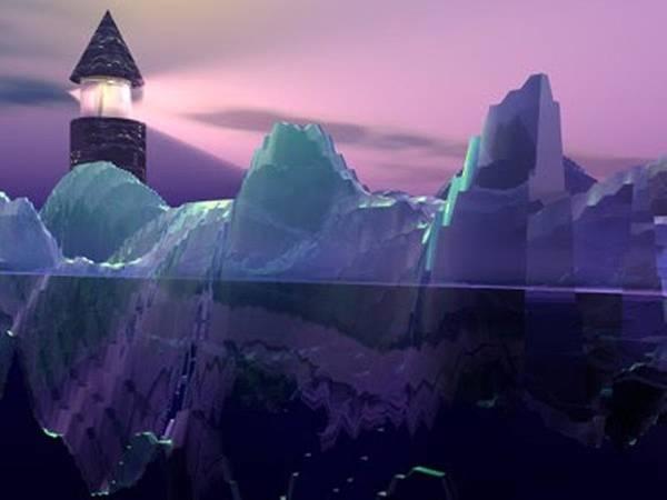 Digital Art - Light House by Darren Cannell