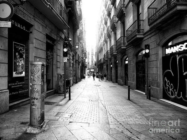 Photograph - Light In The Barcelona Gothic Quarter by John Rizzuto