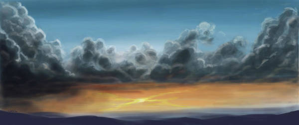 Digital Art - Light In The Storm by Lorrisa Dussault