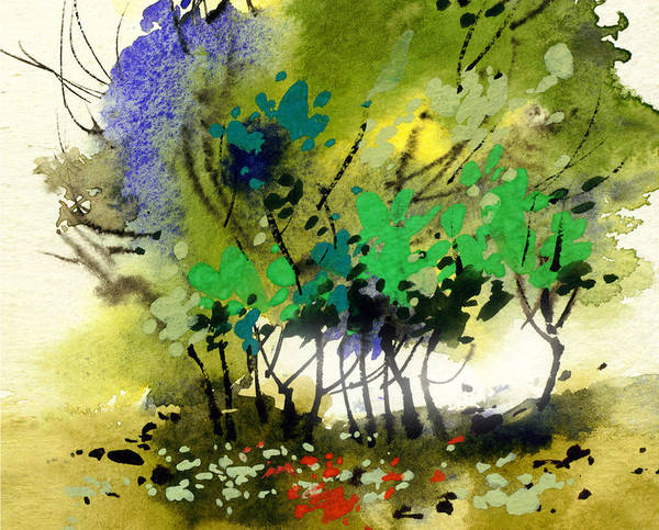 Painting - Light In Trees by Anil Nene