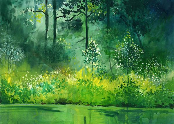 Painting - Light N Greens by Anil Nene