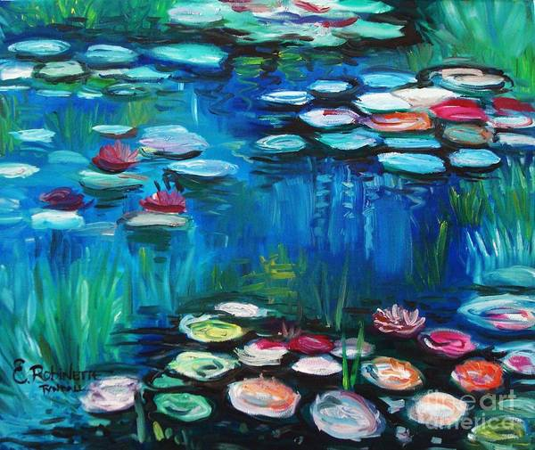 Painting - Light Of The Lillies by Elizabeth Robinette Tyndall