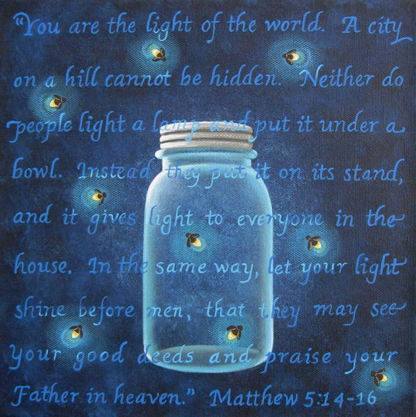 Firefly Painting - Light Of The World Fireflies by Mary Charles