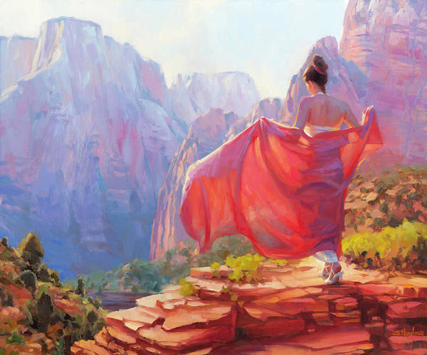 National Wall Art - Painting - Light Of Zion by Steve Henderson