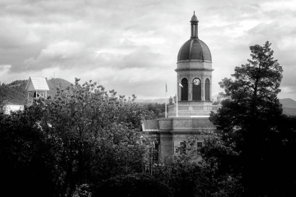 Courthouse Towers Wall Art - Photograph - Light On The Courthouse In Black And White by Greg and Chrystal Mimbs
